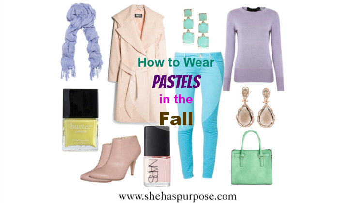 how to wear pastels in the fall